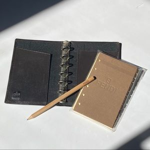Vintage Fendi Notepad Contact Book Wallet Set